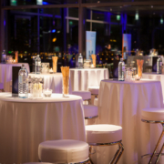 atmospheric, modern arrangment for an elegant company